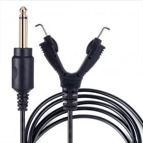 Câble RCA Coudé 1.80m AVA Noir
